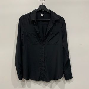 OLD NAVY Black Classic Fit Shirt/Blouse